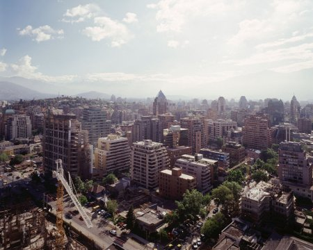 Aerial view of Santiago