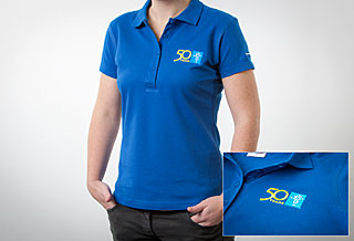 Polo Shirt Embroidered: Women Size XL