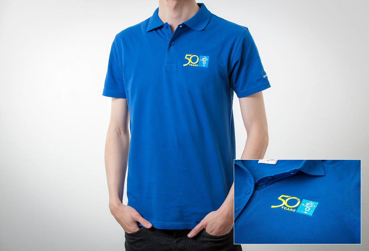 Ideal For The Summer This Short Sleeve Eso Polo Shirt Comes In Royal Blue And Includes A Specialembroidered Logo Celebrating Organisation S 50th