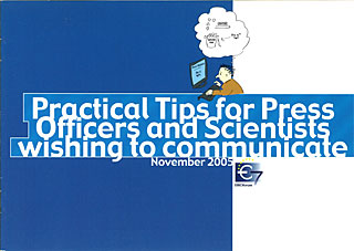 Brochure: Practical Tips for Press Officers and Scientists wishing to communicate