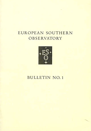 Bulletin 01 - European Southern Observatory