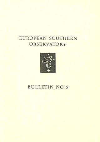 Bulletin 05 - European Southern Observatory