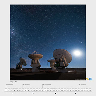 July 2012 — ALMA antennas under the Milky Way