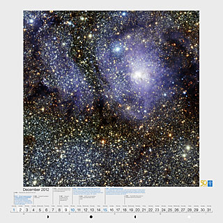 December 2012 — VISTA's infrared view of the Lagoon Nebula (Messier 8)