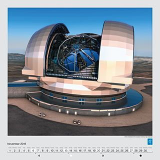 November - Artist's impression of the European Extremely Large Telescope