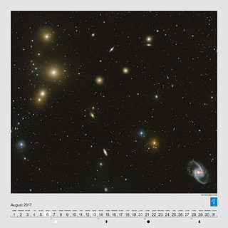 August – The Fornax galaxy cluster