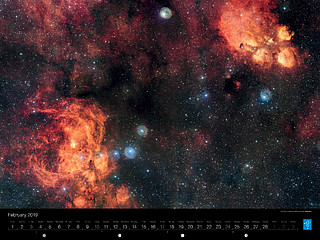 February - The Cat's Paw and the Lobster Nebulae