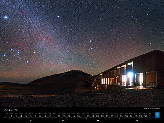 October - The Milky Way rising over the Residencia