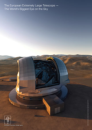 The European Extremely Large Telescope — The World's Biggest Eye on the Sky handout (English)