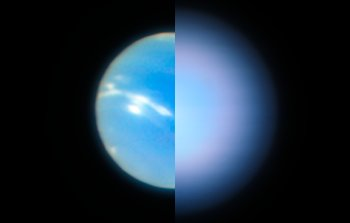 Neptune from the VLT with MUSE Narrow Field Mode adaptive optics