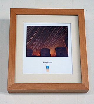 Copper Lithograph of Paranal Observatory