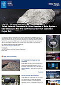 ESO — Exiled Asteroid Discovered in Outer Reaches of Solar System — Science Release eso1814