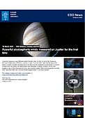 ESO — Powerful stratospheric winds measured on Jupiter for the first time — Science Release eso2104