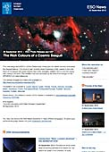 ESO Photo Release eso1237 - The Rich Colours of a Cosmic Seagull