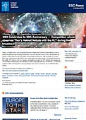 ESO Organisation Release eso1238 - ESO Celebrates its 50th Anniversary  — Competition winner observes Thor's Helmet Nebula with the VLT during live broadcast