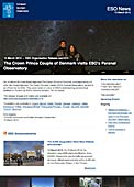 ESO Organisation Release eso1314 - The Crown Prince Couple of Denmark visits ESO's Paranal Observatory