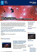 ESO Photo Release eso1322 - ESO's Very Large Telescope Celebrates 15 Years of Success