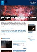 ESO Photo Release eso1403-en-us - Sneak Preview of Survey Telescope Treasure Trove — VST images the Lagoon Nebula