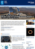 ESO — ESO Signs Largest Ever Ground-based Astronomy Contract for E-ELT Dome and Telescope Structure — Organisation Release eso1617