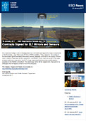 ESO — Contracts Signed for ELT Mirrors and Sensors — Organisation Release eso1704
