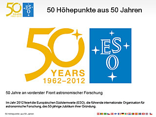 ESO50: Fifty highlights from fifty years (German)