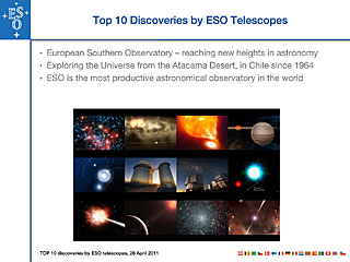 Top 10 Discoveries by ESO Telescopes presentation