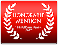 2017 FullDome Festival Honorable Mention Logo