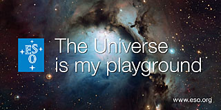 Sticker: The Universe in my playground